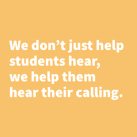 We don't just help students hear, we help them hear their calling for Mobile